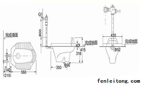 蹲便器结构剖面图解析 蹲便器安装步骤是怎样