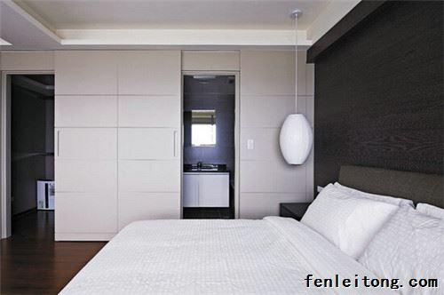 花纹卫生间门对着床装修设计好不好化解古典卧室v花纹图片